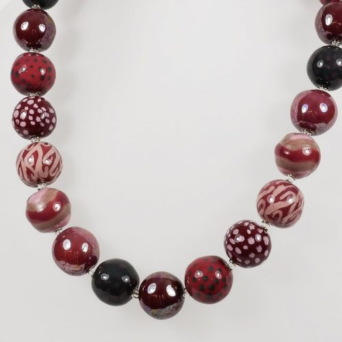 steinfarben-Shop - Halskette Rosarunde