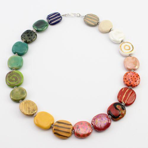 Fairer Schmuck aus Keramik – Früchtchen-Halskette