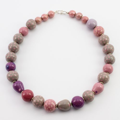 steinfarben-Shop - Halskette Pink Pill