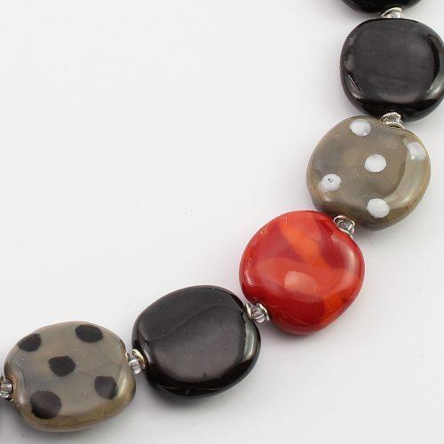 Fairer Schmuck aus Keramik – Hot Smoke-Halskette