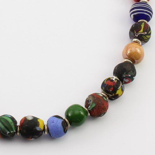 steinfarben-Shop - Glasschmuck - Halskette Karneval