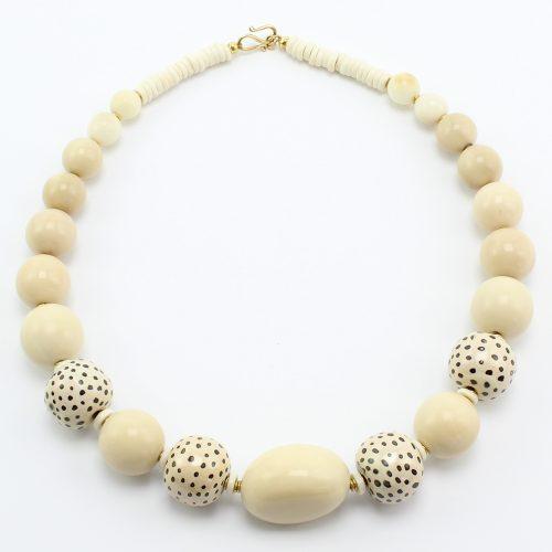 steinfarben-Shop - Taguaschmuck - Halskette I-Tüpfelchen