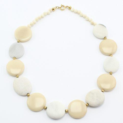 steinfarben-Shop - Steinschmuck - Halskette Schneewittchen