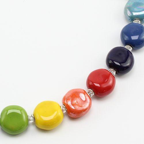 Fairer Schmuck aus Keramik – Junges Gemüse-Halskette