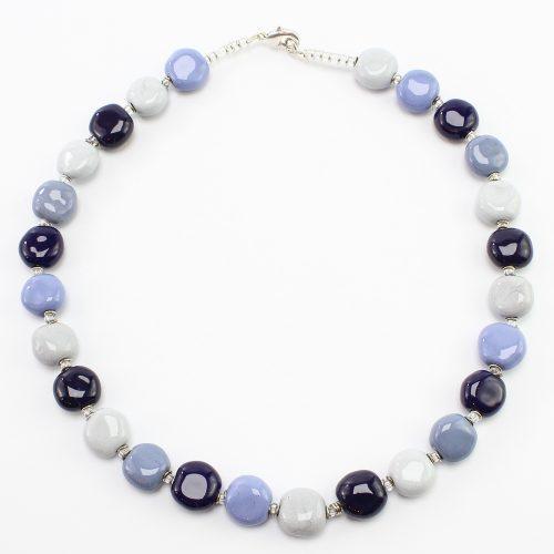 steinfarben-Shop - Halskette Blaustern