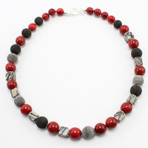 steinfarben-Shop - Halskette Brombeer