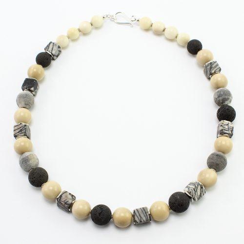 steinfarben-Shop - Halskette Brombeer natur
