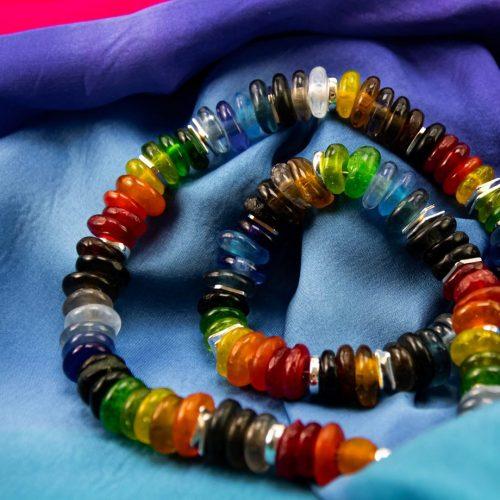 Halskette aus Krobo-Glas