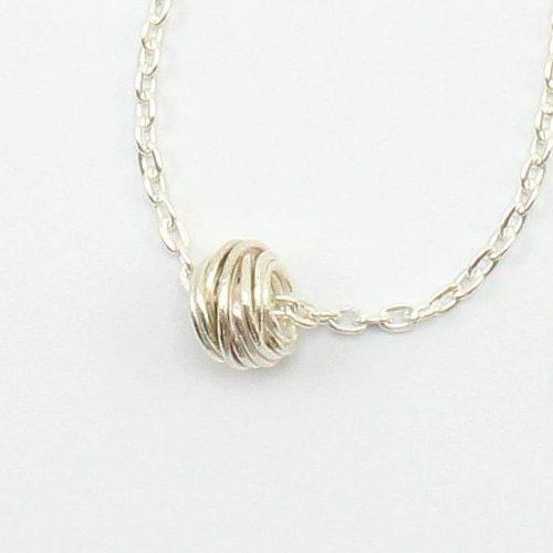 Halskette Silber mit Anhängerperle