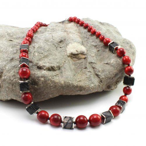 Tagua-Halskette rot