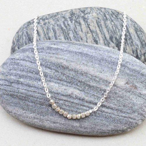 Silberkette, handgefertigt