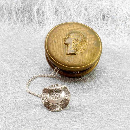 Halskette Silber mit Anhänger aus Karen-Silber